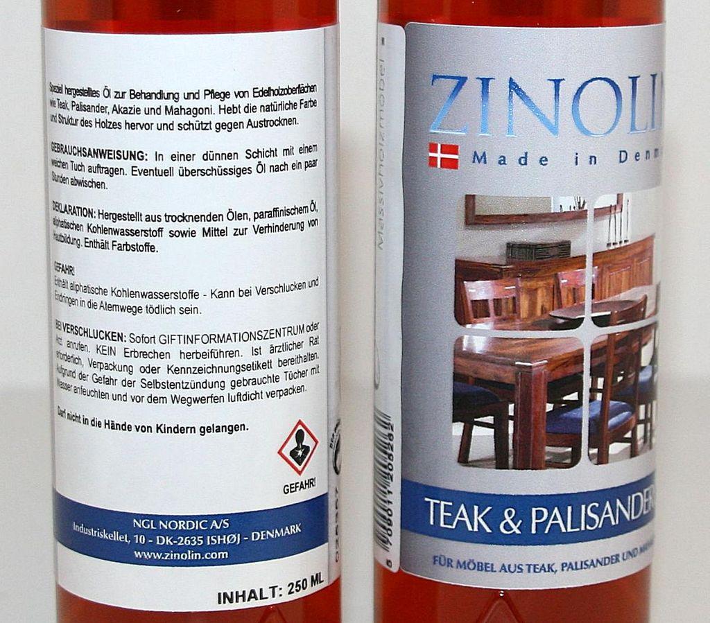 Zinolin Möbelöl Teakholz Palisander Mahagoni Öl 250ml – Bild 7