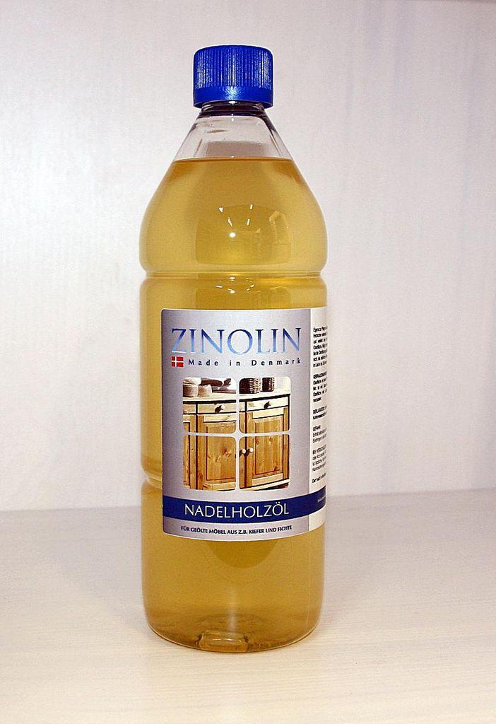 Zinolin Nadelholz Öl 1 Liter Möbelöl Kiefer Fichte Tanne – Bild 1
