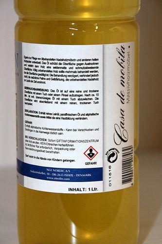 Zinolin Nadelholz Öl 1 Liter Möbelöl Kiefer Fichte Tanne – Bild 4