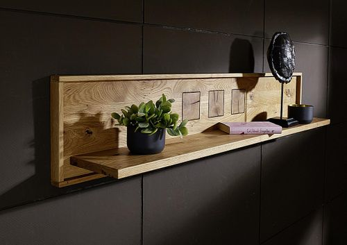 Wohnzimmer komplett RUSTIC 5teilig Wildeiche massiv geölt Hirnholz – Bild 9