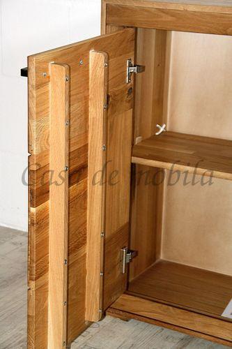 Esszimmer komplett 10teilig Wildeiche massiv geölt Hirnholz – Bild 12