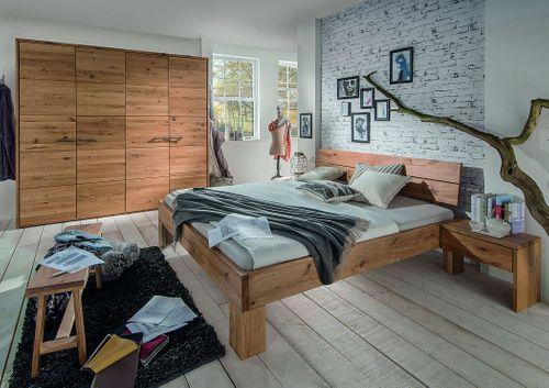 Massivholz Bett 140x200 Wildeiche geölt rustikal – Bild 3