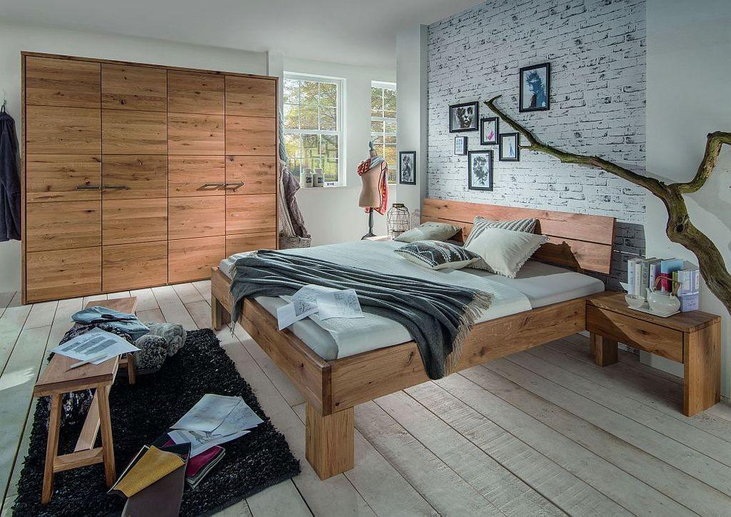 Schlafzimmmer Set 4tlg. Wildeiche geölt