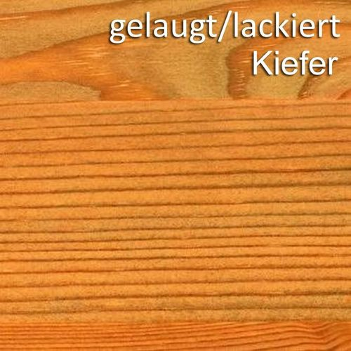 Wandboard 129cm Kiefer Wandregal massiv Vollholz Regalboden – Bild 7