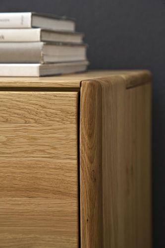 Massivholz Hänge Sideboard Glastüren links 236x64x42  – Bild 2