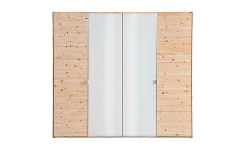 Massivholz Schlafzimmer 4tlg. Bett 160x200 Zirbenholz unbehandelt – Bild 2