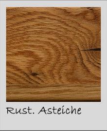 Massivholz Wohnwand 4 teilig Asteiche  322x191x56 cm  – Bild 3