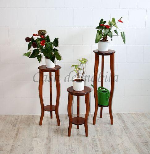 Blumentisch Blumenhocker 100cm Massivholz Kirschbaumfarbe – Bild 5