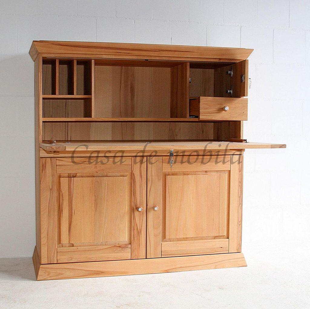 sekret r 127x130x50cm 2 t ren 1 klappe massivholz. Black Bedroom Furniture Sets. Home Design Ideas