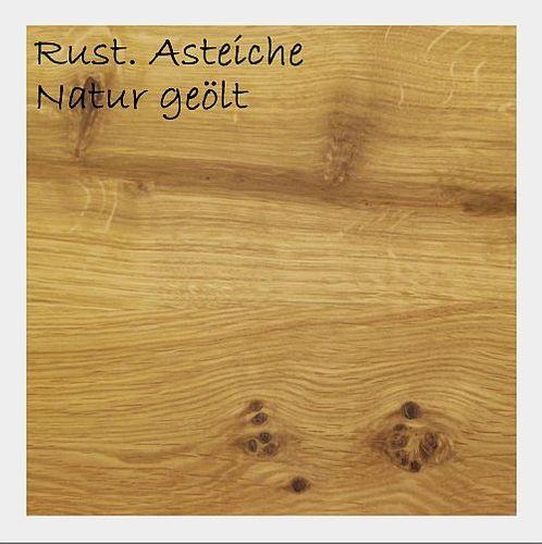 Polsterstuhl creme Massivholz geölt – Bild 2