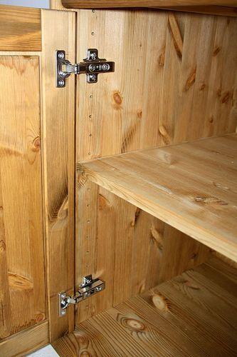 Kommode 3türig Kiefer massiv Sideboard Landhaus Vollholz Kugelfüße – Bild 10