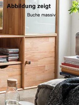 Regal Würfel mit Tür Buche massiv 50x50x35 cm Natur geölt – Bild 1