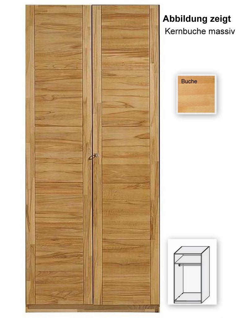kleiderschrank 2trg 94x198x61 cm buche massiv ge lt. Black Bedroom Furniture Sets. Home Design Ideas