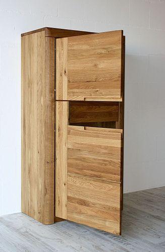 Wohnzimmerschrank Wildeiche Holzschrank links massiv geölt – Bild 3