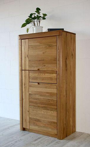 Wohnzimmerschrank HORIZONT 71x137x40cm Massivholz Wildeiche massiv natur geölt Linksanschlag – Bild 1