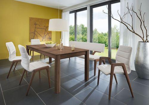 Esstisch massiv Nussbaum160x95 Tisch – Bild 1