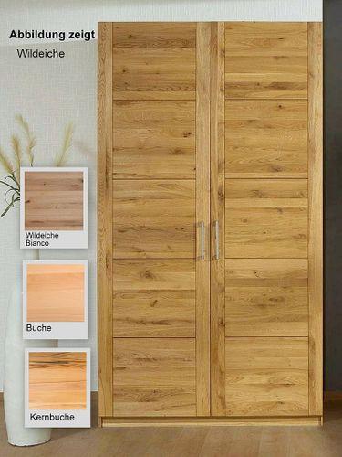 Kleiderschrank 2 trg 96x216x60 Massivholz geölt – Bild 1