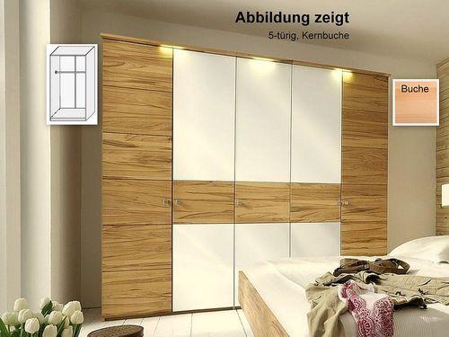 Kleiderschrank 2-trg Buche massiv 121x216x60  – Bild 1