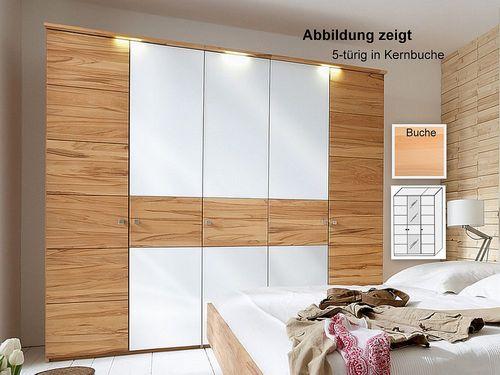 Kleiderschrank 3-trg Buche massiv 143x216x60  – Bild 1