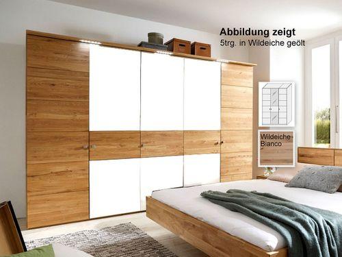 Kleiderschrank 3-trg Wildeiche massiv 181x216x60  – Bild 1