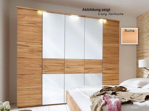 Holzschrank 6 türig Buche massiv 359x216x60 – Bild 1