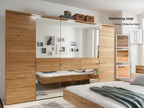 Kleiderschrank mit Spiegel 3 türig massiv 181x216x60  – Bild 1