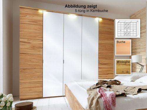 6türiger Kleiderschrank massiv Weißglas 359x216x60  – Bild 1
