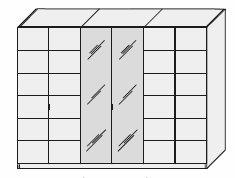 6türiger Endlosschrank Zirbe Natur 360 cm breit – Bild 3