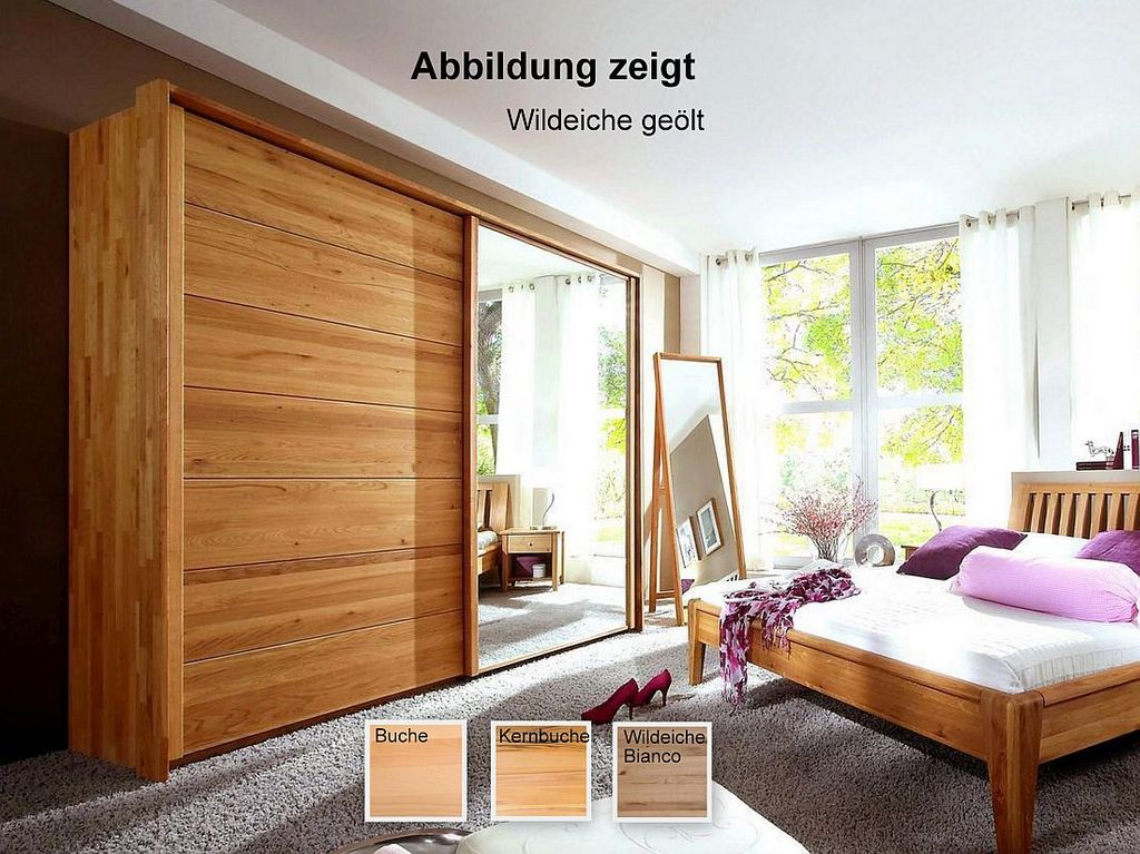 schwebet renschrank mit spiegel 300x216x66 cm massivholz ge lt. Black Bedroom Furniture Sets. Home Design Ideas