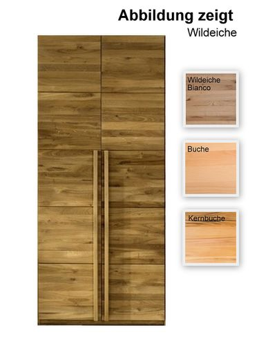 2 türiger Schrank 96 cm breit Holzschrank massiv – Bild 1