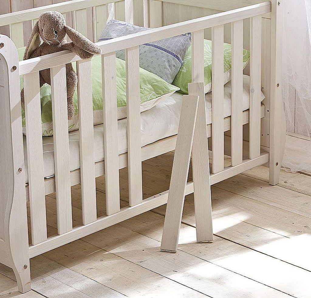 Babyzimmer-Set 8teilig komplett Kiefer massiv Holz weiß – Bild 4