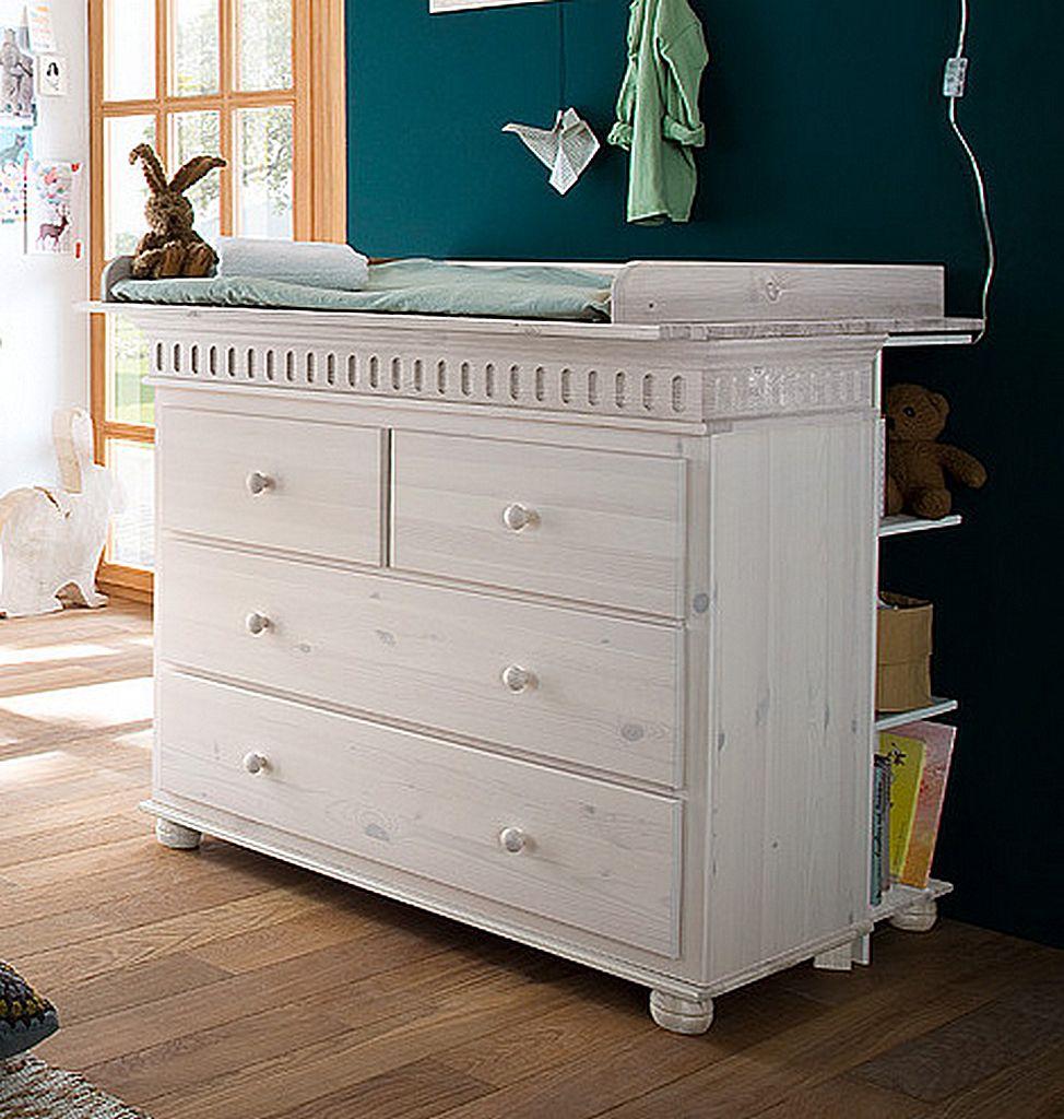 Babyzimmer-Set 8teilig komplett Kiefer massiv Holz weiß – Bild 5