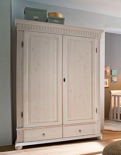 Babyzimmer-Set 8teilig komplett Kiefer massiv Holz weiß – Bild 2