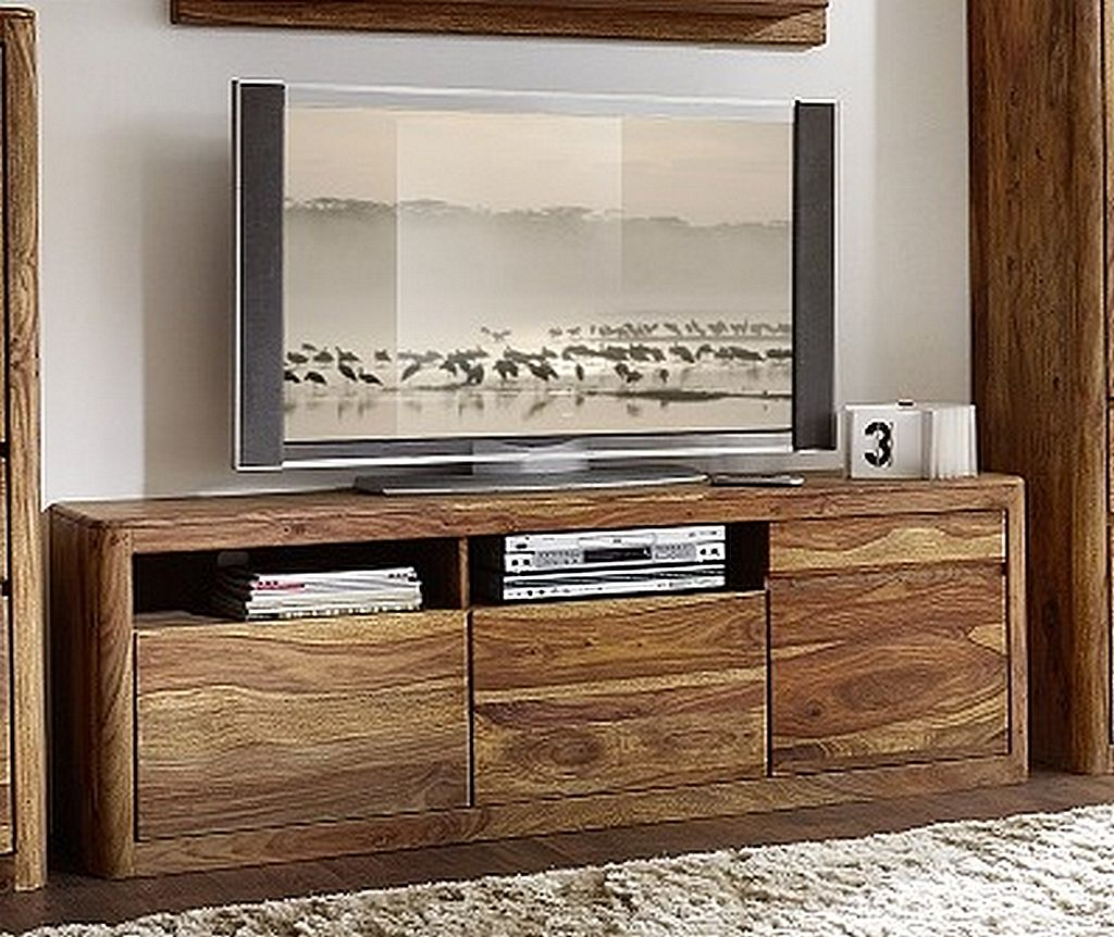 tv lowboard 180x60x40cm 1 holzt r 2 schubladen palisander sheesham massiv natur. Black Bedroom Furniture Sets. Home Design Ideas
