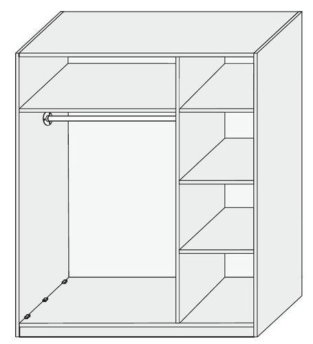 3 türiger Kleiderschrank Kernbuche massiv Livos geölt – Bild 2