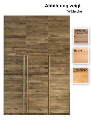 3 türiger Schrank 143 cm breit Holzschrank massiv – Bild 1