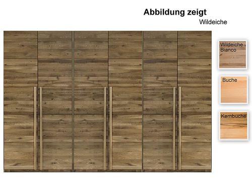 6 türiger Schrank 284 cm breit Kleiderschrank massiv – Bild 1