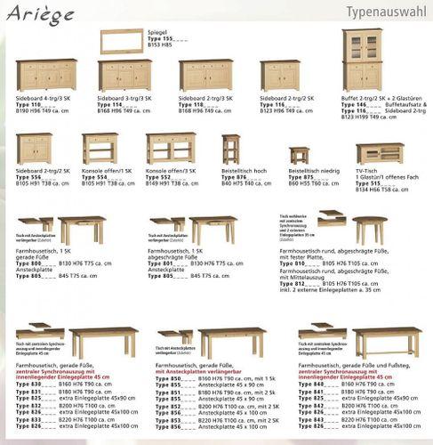 Esszimmertisch rund 105cm erweiterbar Eiche massiv Auszugtisch Holz – Bild 11