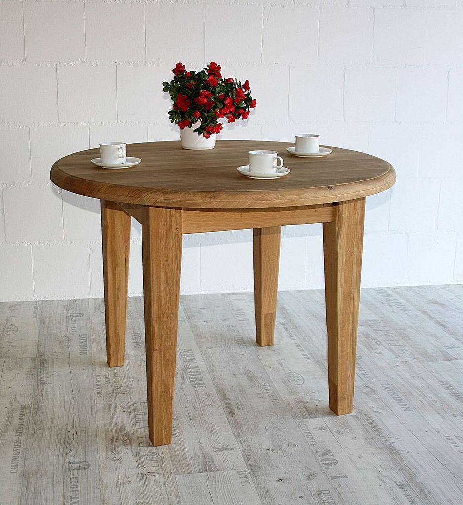 Schön Esstisch Rund Eiche Ideen Von Esszimmertisch 105cm Massiv Küchentisch Holz – Bild