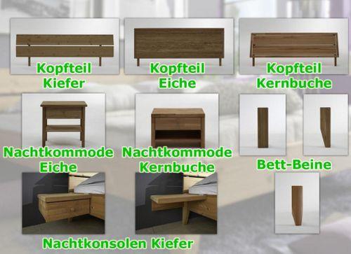 Bett 160x200 Kiefer massiv Doppelbett gelaugt geölt – Bild 6
