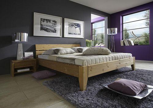 Bett 160x200 Seniorenbett Komforthöhe Kiefer massiv Vollholz gelaugt geölt – Bild 2