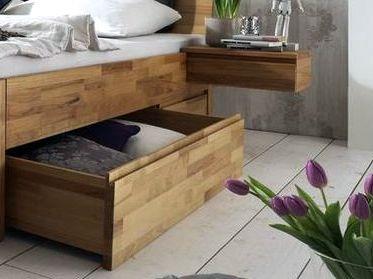 Schubkastenbett massiv 160x200 2 Schubladen Natur Livos geölt – Bild 6