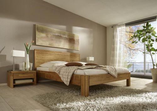 Seniorenbett 160x200 Eiche massiv Doppelbett Komforthöhe geölt – Bild 2