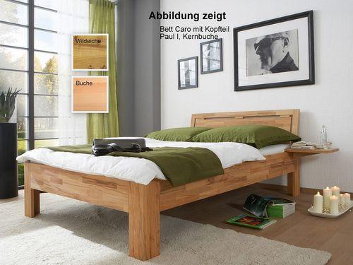 Bett 120x200 massiv Natur Livos geölt – Bild 1