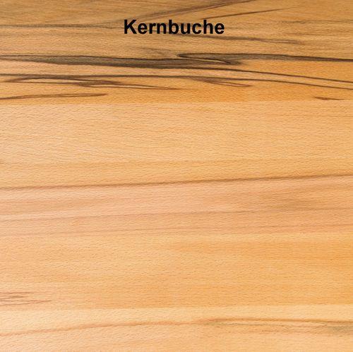 Massivholzbett Balkenoptik 140x200 Buche Natur Livos geölt – Bild 3