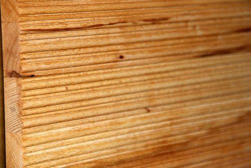 Massivholzbett Balkenoptik 160x200 Buche Natur Livos geölt – Bild 4