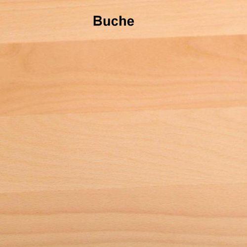 Doppelbett Balkenoptik 200x200 Buche Natur Livos geölt – Bild 2