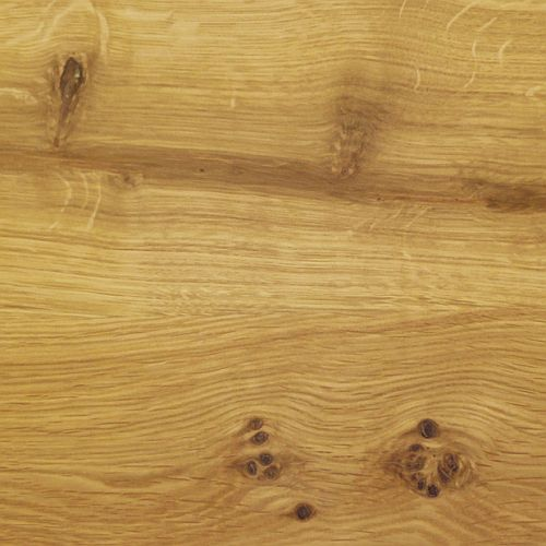 Massivholzbett 200x200 Balkenoptik Wildeiche Livos geölt – Bild 5