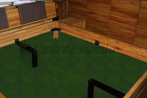 Bett 90x200 Komforthöhe Kiefer massiv Einzelbett gelaugt geölt – Bild 5