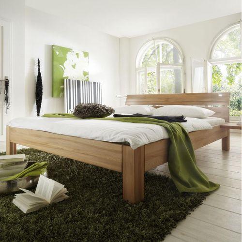 Bett 100x200 Kernbuche Seniorenbett massiv Einzelbett geölt stabverleimt – Bild 1
